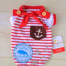 Kawaii Pet Shop Sailor Striped Dog Jumpsuits Rompers Pet Clothes Dog Pajamas Clothes for Dogs Dog Clothes