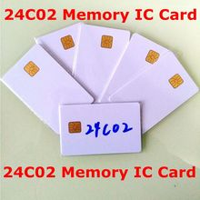 10pcs/lot ATMEL AT24C02 ISO7816 24C02 smartcard secure Memory blank connect smart IC card