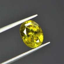 3.205ct natural SI class natural green sphene loose gems loose gemstones(China)