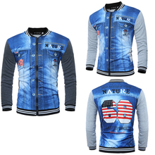 Men jackets Baseball collar printing new fashion men's 3D sweaters  long-sleeved sweater man's jacket new baseball collar
