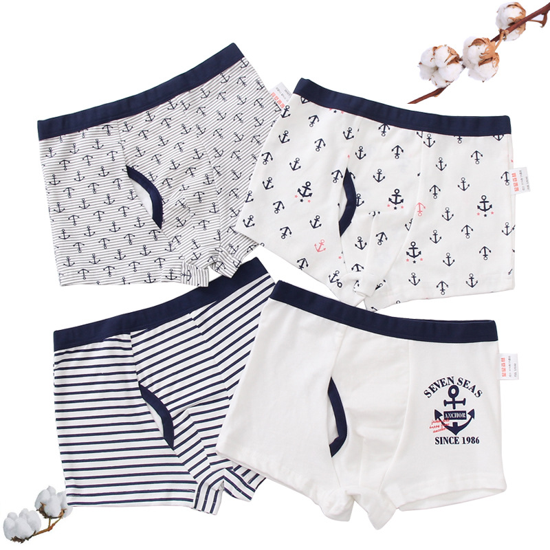 Men Boy Underwear Soft Shorts Underpants Breathable Cotton Boxer Brief  Panties