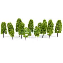 New Arrivals 2015 20pcs HO Scale 4 sizes Model Pine Trees Model Railroad/Diorama Light Green-HOT SALE