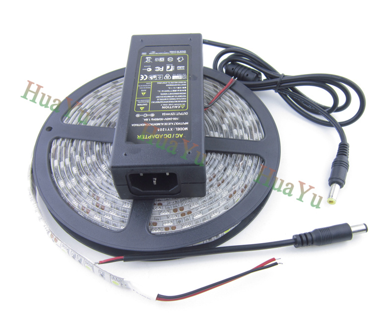 5M 60leds/m RGB SMD 5050 led strip set waterproof LED Strip+12v 5A power adapter,Christmas light, holiday light, Free shipping<br><br>Aliexpress