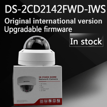 Free shipping In stock New Arrival english version DS-2CD2142FWD-IWS 4MP WDR Fixed Dome with wifi Network Camera(China)