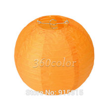 10pcs/lot 8'' (20cm) Orange Round paper lantern paper lanterns lamps festival wedding decoration party lanterns(China)