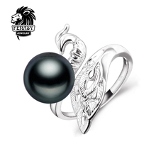 FENASY vintage Pearl rings,Natural Freshwater Pearl ring ,charm phoenix ring,rings for women punk fashion jewelry with gift box