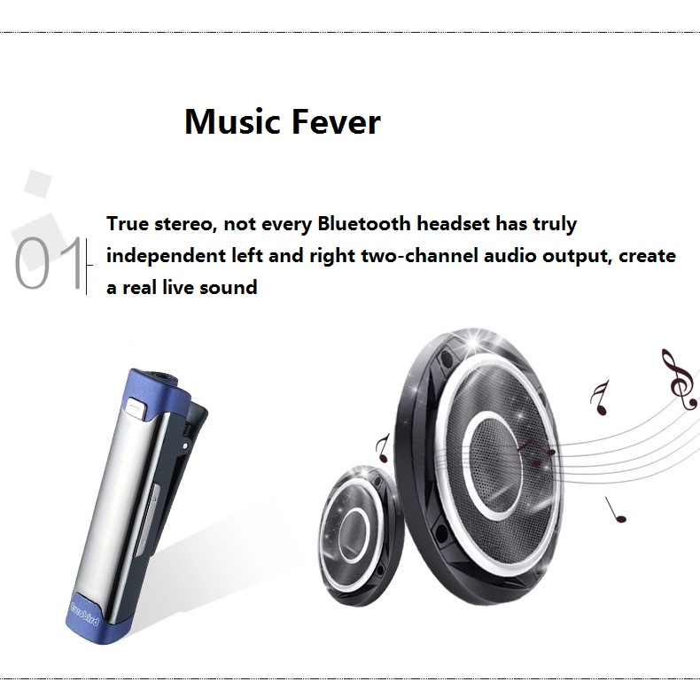 Eurobird Sport Office Lavalier Auricular Wireless Bluetooth Earphone Blue Tooth Earphone Mic HiFi Heavy Bass Stereo Earphones
