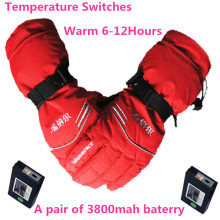 GA0630 Outdoor Sport Ski USB Electric Lithium Battery Self Heating Gloves Finger/Hand Back Heat,3 gear Thermostatic Warm 6-12h