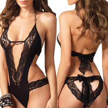 2017 new sexy lingerie hot black lace Splice erotic lingerie Teddy sexy costumes temptation lenceria transparent sex products
