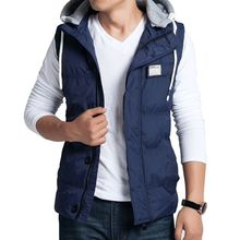 Men's cotton vest winter Men's fashion Slim hooded vest big yards casual warm Large size men's jackets 3XL 4XL 5XL(China)