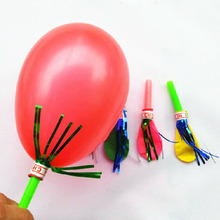50pcs/lot Plastic Whistle Balloon Children Toy Assorted Color Globos Children Kids Toys Wedding Decoration Balloons(China)