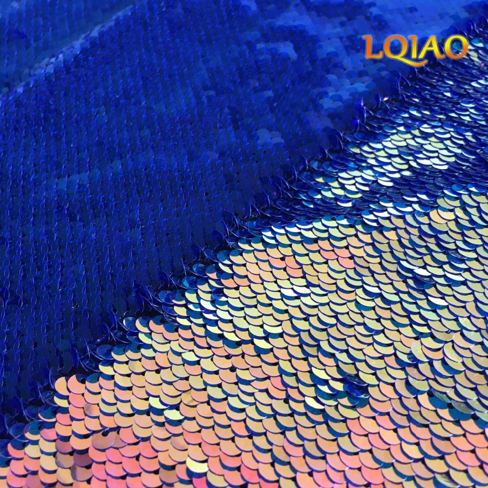 Fluorescence Gold Reversible Sequin Fabric 002