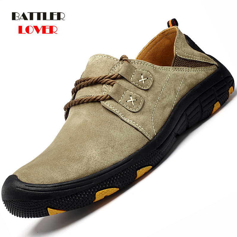 Comfortable Genuine Leather Casual Shoes Men Loafers Suede Men