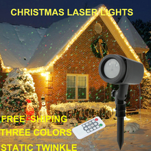Outdoor Garden Decoration lawn lamp Waterproof IP44 Christmas Laser Light Star Projector laser Red Green Static Twinkle(China)
