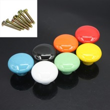 Ceramic Handle Drawer Button Cabinet Pull Cabinet Wardrobe Handle Modern Kitchen Furniture Handle Knob