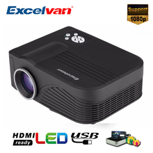 Excelvan X9 Portable LED Projector AV IN/SD/USB/VGA/HDMI Home Theater 800*480 1500 Lumens Cheap Digital Video Projector PK UC40(China)