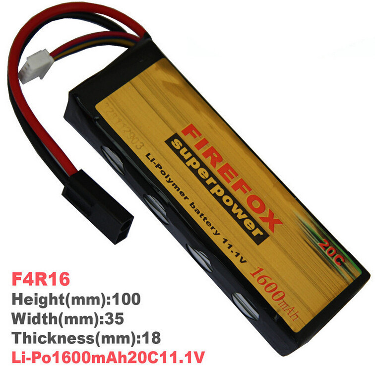 1pcs 100% Orginal FireFox 11.1V 1600mAh 20C Li Po AEG Airsoft Battery F4R16 Drop shipping<br>