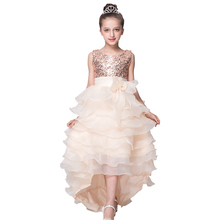 Girls dress new children's wedding dresses, girls sequined cake sequins party dress girl 3 ~ 10 yrs high quality dress