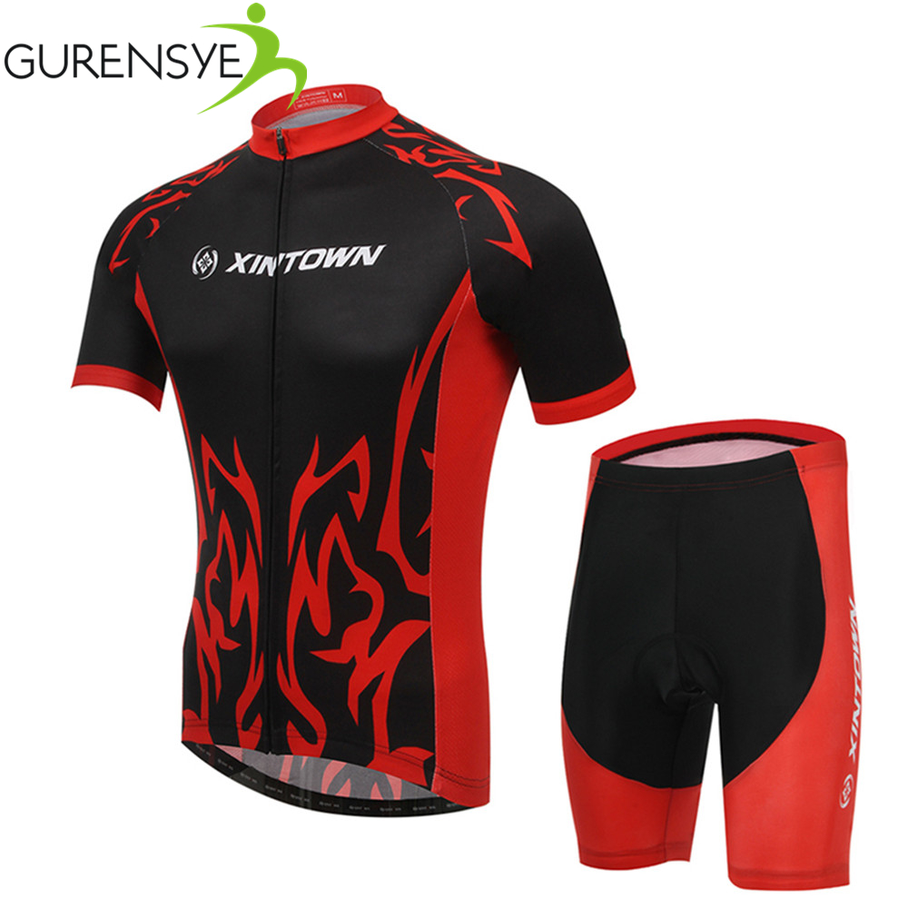Summer cycling Sets Red Mens cycling jersey Short sleeve bike Shorts/breathable ropa ciclismo maillot ciclismo cycling clothing<br><br>Aliexpress