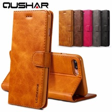 Luxury Genuine Leather Case for iphone 6 6s Wallet Cases Brown Black Flip Stand Full Cover for Apple iphone 6 6s plus Phone Bags