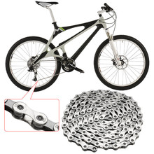 New Arrival Durable Steel 9 Speed Mountain Bike Chain 116 Link Hoops Bicycle Chain Silver for Shimano Sram Drive Trains