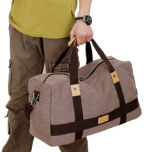 Vintage Military Canvas Duffle Bag Men's Travel Bags Male Carry on Traveling Luggage Large Road Weekend Tote Big Bag(China)