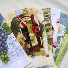 Hot sale 5pcs/lot high quality 100% cotton printed towels absorbent kitchen towel, dish cleaning cloth, tea towels cooking tools