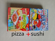 pizza+sushui  cookin Kracie japanese food sweets DIY food eatable toy christmas gift  kinds of taste