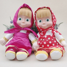 Cute Italian Language Musical Masha Action Figure Doll Peluche Toy Gift(China)