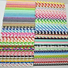 1000pcs Free DHL Paper Straws Bulk-Over 300 Designs-Pick Colors-Striped,Polka Dot,Chevron,Patterned Drinking Paper Straws Party