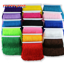 10 Yards Lace Trim Tassel Fringe Trimming DIY Latin Dress Stage Clothes Accessories Decorative Tassels for Curtains 15cm JK139