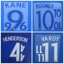 2017 England VARDY HENDERSON STERLING ROONEY BARKLEY custom football number font print ,stamping Soccer patches badges
