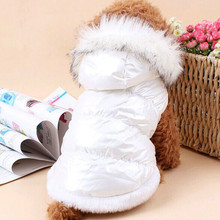 Dog Down Jacket Winter Dog Clothes Coat High Quality Pet Dog Clothing Outwear Outer Garment French Bulldog Costume Apparel(China)