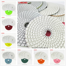 DIATOOL 6 pcs 5 Inches Sanding Disc for Granite Marble Stone Tile Polishing Dia 125mm #800 Wet White bond(China)