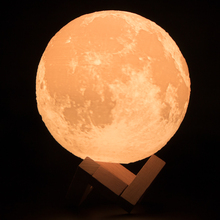 HAIXIANG 3D Full Moon Light Print Simple Personality Lunar Lamp Creative Desk Lamp Night Lights For Decoration Dia8/10/12/15cm