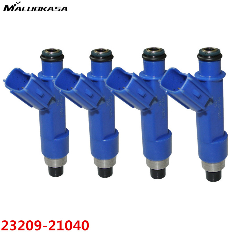 MALUOKASA 4Pcs Car Fuel Injector For Toyota Yaris 2006-2014 Corolla 2000-2015 23250-21040 23209-21040 High Flow Auto Replacement(China)