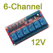 6-channel dc 12V latching relay module Switch controls the high voltage high current(China)