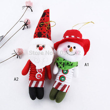 1 PC A16 Free Shipping Cute Christmas Santa Snowman X'mas Pendant Ornaments Tree Party Decoration  T1277 P