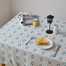The Nordic Modern Geometric Table Cloth Linen Cotton Woven Tableclothes For Weeding Banquet Decoration
