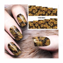 ZKO 1 Sheet Oil Painting Design Water Decals Water Transfer Foils Nail Art Sticker Nails Decorations Tools Sticker 8081(China)
