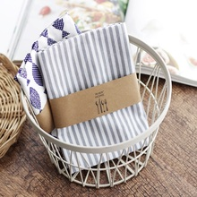 Minimalist Gray Striped Thick Cotton Tea Towel 6pcs Kitchen Napkin placemats 100 Cotton Restaurant Napkins Table Towels Wedding