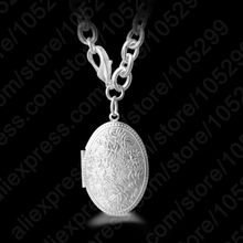 JEXXI Vintage Womens Luminous Necklace Photo Holder Box Pendant 925 Sterling Silver Chain Necklaces