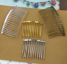 12tooth,15tooth,20tooth Copper with Antique Bronze/Gold/Silver Colors Hair Combs Hair Claw,DIY ZAKKA Vintage Hairpin
