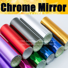 Chrome Mirror Vinyl with Bubble Free Air Release DIY Wrap Sheet Film Car Sticker Decal Car Styling Size:10/20/30/40/50/60X152CM(China)
