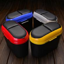 Mini Auto Car Trash Rubbish Can Garbage Dust Case Holder Car Trash Bin Easy To Use And Keep Your Car Clean
