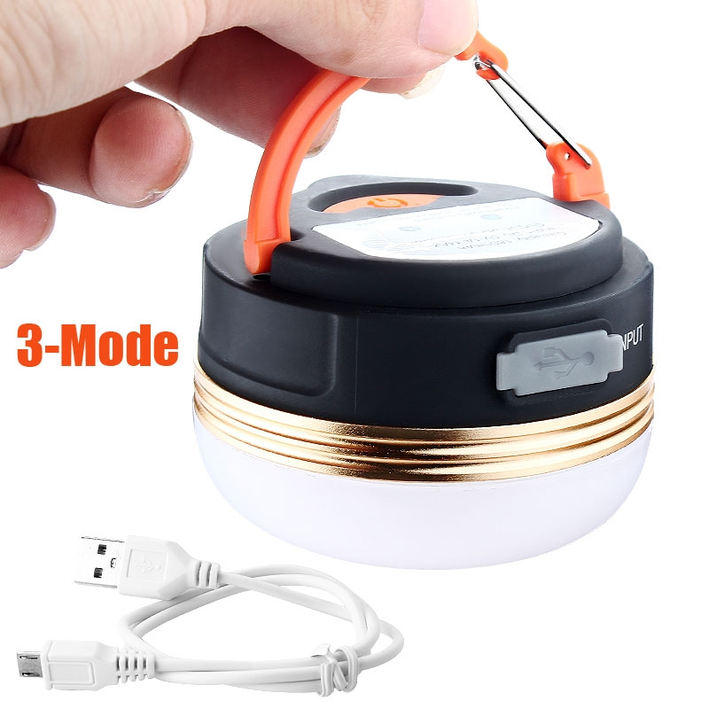 hot 3W USB Rechargeable CREE Mini LED Camping Lantern Outdoor Light Tent Lamp Night Light 3 Modes 6 hour
