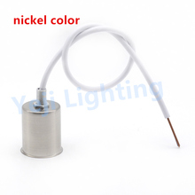 nickel color  E27 retro Vintage ceramics lamp holder Ceiling rose lamp cup for wall lamp chandelier DIY lighting accessories