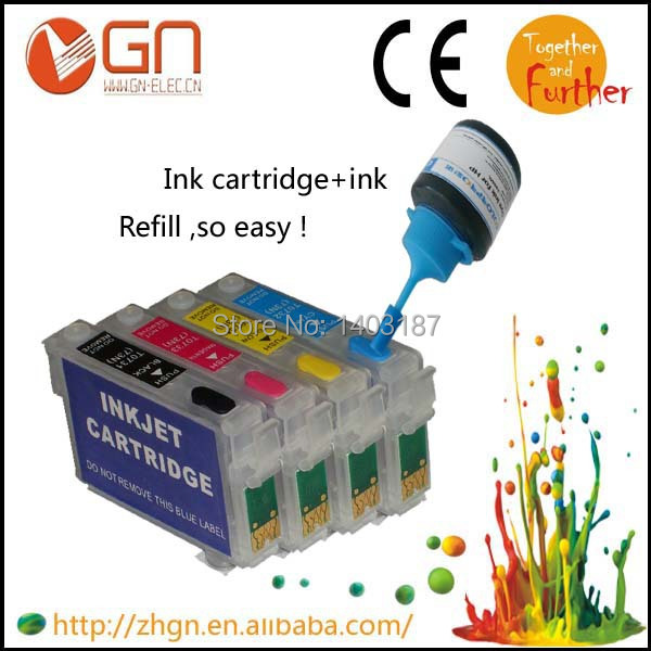1 set empty refill ink cartridge T1811-T1814 for Epson XP30 XP102 XP202 XP205 XP302 XP305 XP402 XP405 XP215 XP312 XP415 printer<br><br>Aliexpress