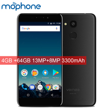 Vernee M5 4G LTE Smartphone 5.2inch Android 7.0 MTK6750 Octa-Core 4GB RAM 64GB ROM 13.0MP+8.0MP 3300mAh Big Battery Mobile Phone(China)