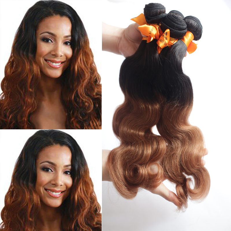 Newness 7A Ombre Hair Extensions Malaysia Remy Hair Body Wave 100% Guaranteed Real Human Hair Brown Two Tone Cheap Hair Weave<br><br>Aliexpress